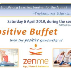 6th of April 2019 – Positive Mindset 3rd Lifelong Learning Seminar at ALBA Graduate Business School